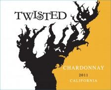 Twisted 2011 California Chardonnay - FRONT
