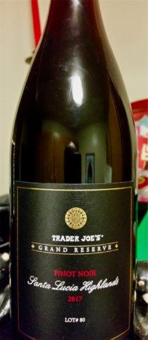 Trader Joe's Grand Reserve Santa Lucia Highland Pinot Noir Lot 80 2017 1