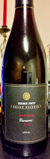 Trader Joe's Grand Reserve Carneros Pinot Noir 2018